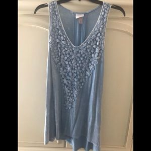 Size large Knox rose crochet flower tunic